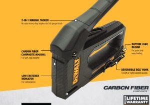 DeWalt Carbon Fiber Squeeze Tacker