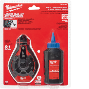Milwaukee 100 Bold Line Kit w Blue Chalk